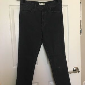 Off black Madewell High Riser Skinny Skinny Jeans